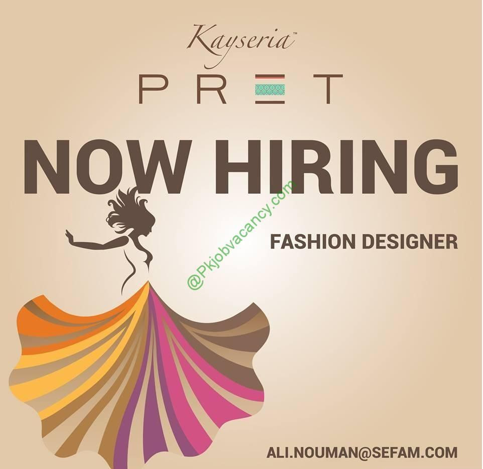 Kayseria Pret Jobs Fashion Designer Kayseria Clothing 2017 Jobs In Pakistan Job Fashion Design