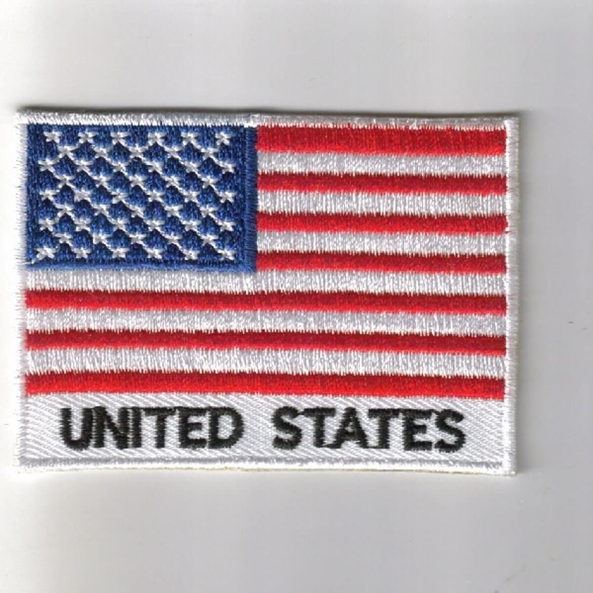 United States Embroidered Patch With Name Country Flag United States Patches Iron On Badges Flag Patches Embroidered Patches American Flag Patch