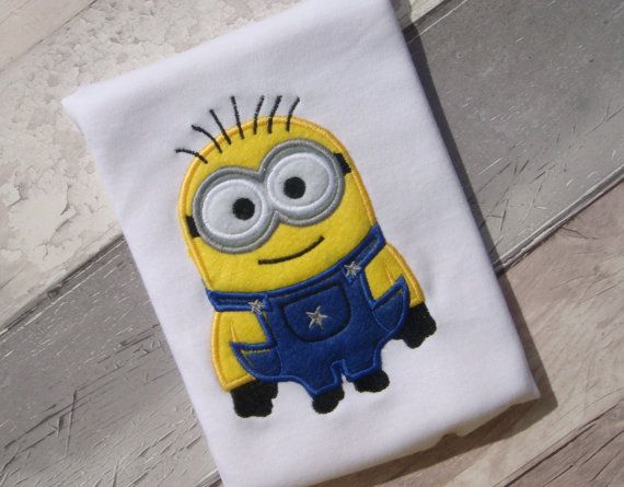 Minion machine embroidery design file in 8 by cutencooldesigns