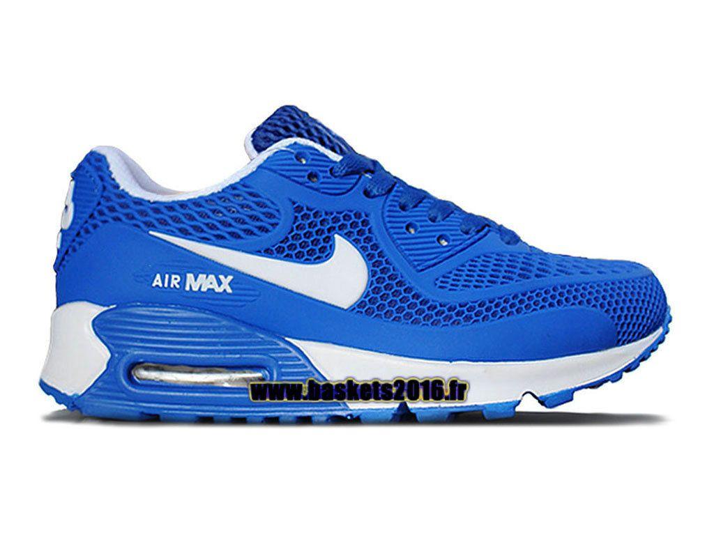 Nike Air Max 90 Chaussure Nike Officiel Pour Garçons Filles Bleu - Blanc 2d9a2f63c8c4