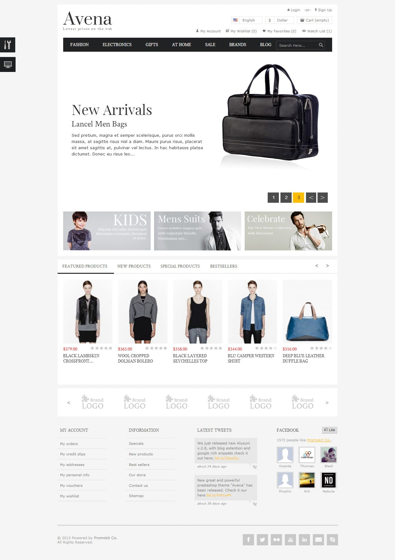 75dafd0399 Avena is Premium full Responsive PrestaShop Theme for small and medium  businesses. Homepage Builder. Isotope Sort.