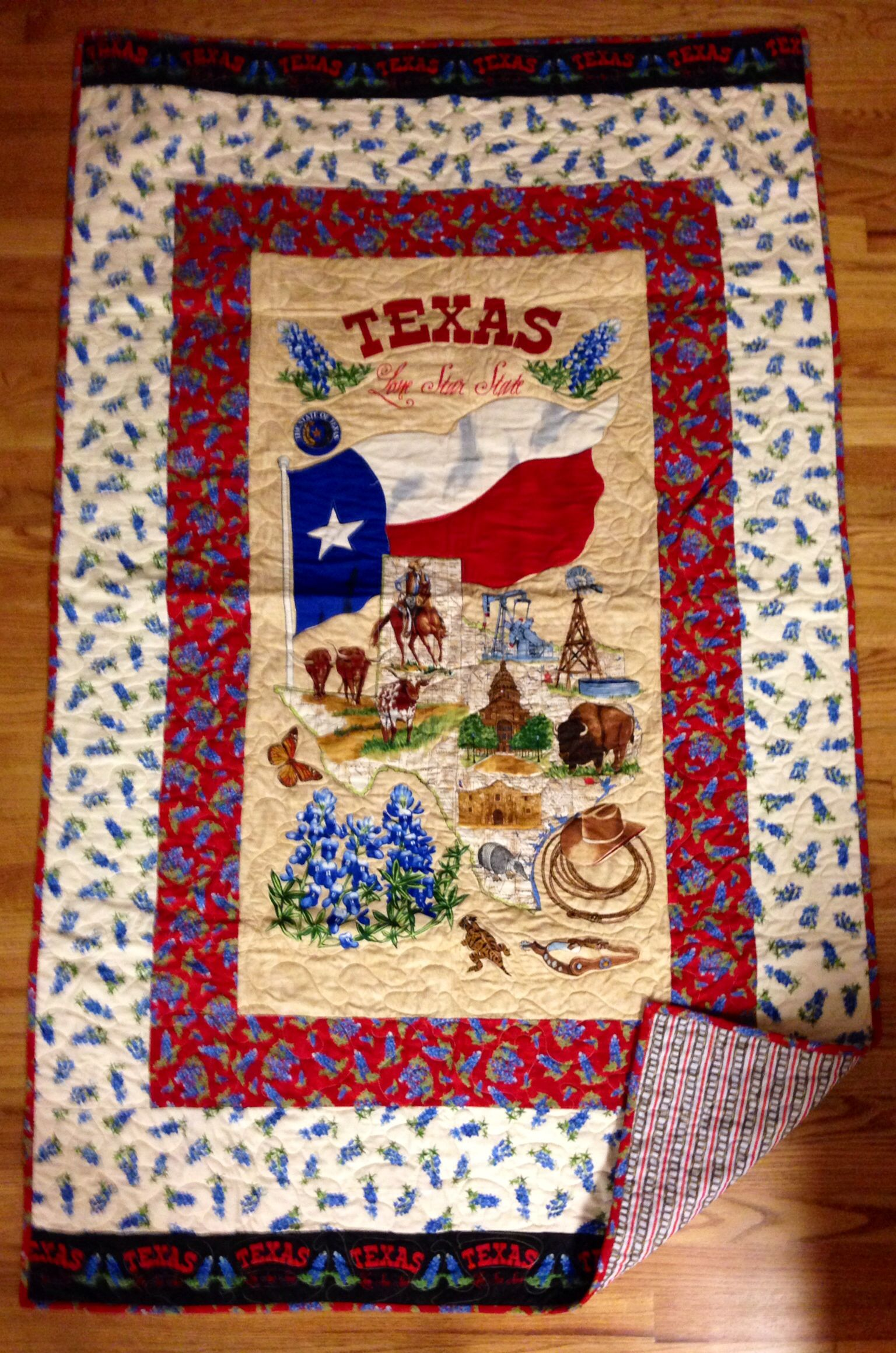 Texas Bluebonnet Quilt made by: Www.GrammyQuiltsofLove.com ...
