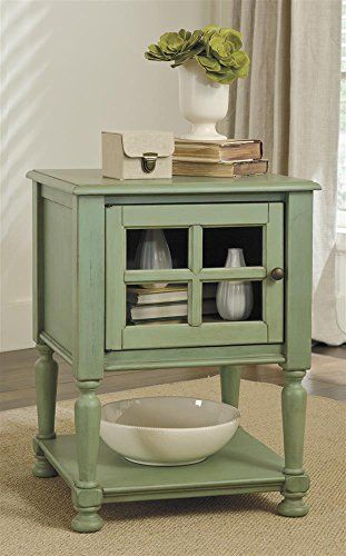 Ashley Furniture Signature Design Cottage Accents Chair Side End Table, Green Ashley http://www.amazon.com/dp/B00K5N110U/ref=cm_sw_r_pi_dp_jW94ub0BPWMA1