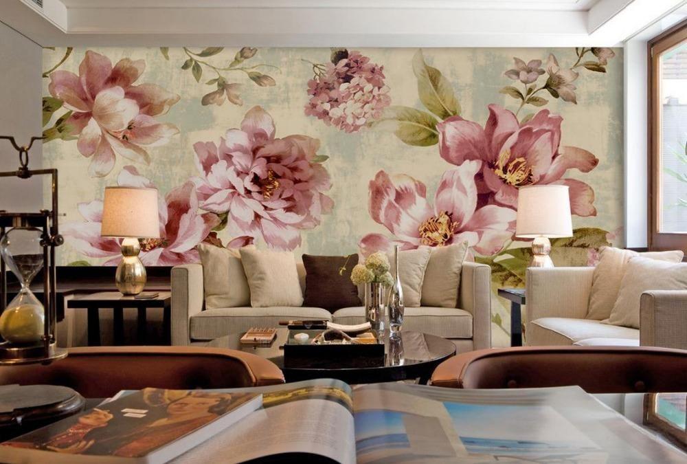 Custom Wallpaper Murals 3d Wallpaper Flower Rural Small
