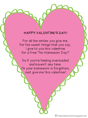Letter For Teacher Valentines Day, Cute Valentine Poem From The Teacher Homework Pass Freebie, Letter For Teacher Valentines Day