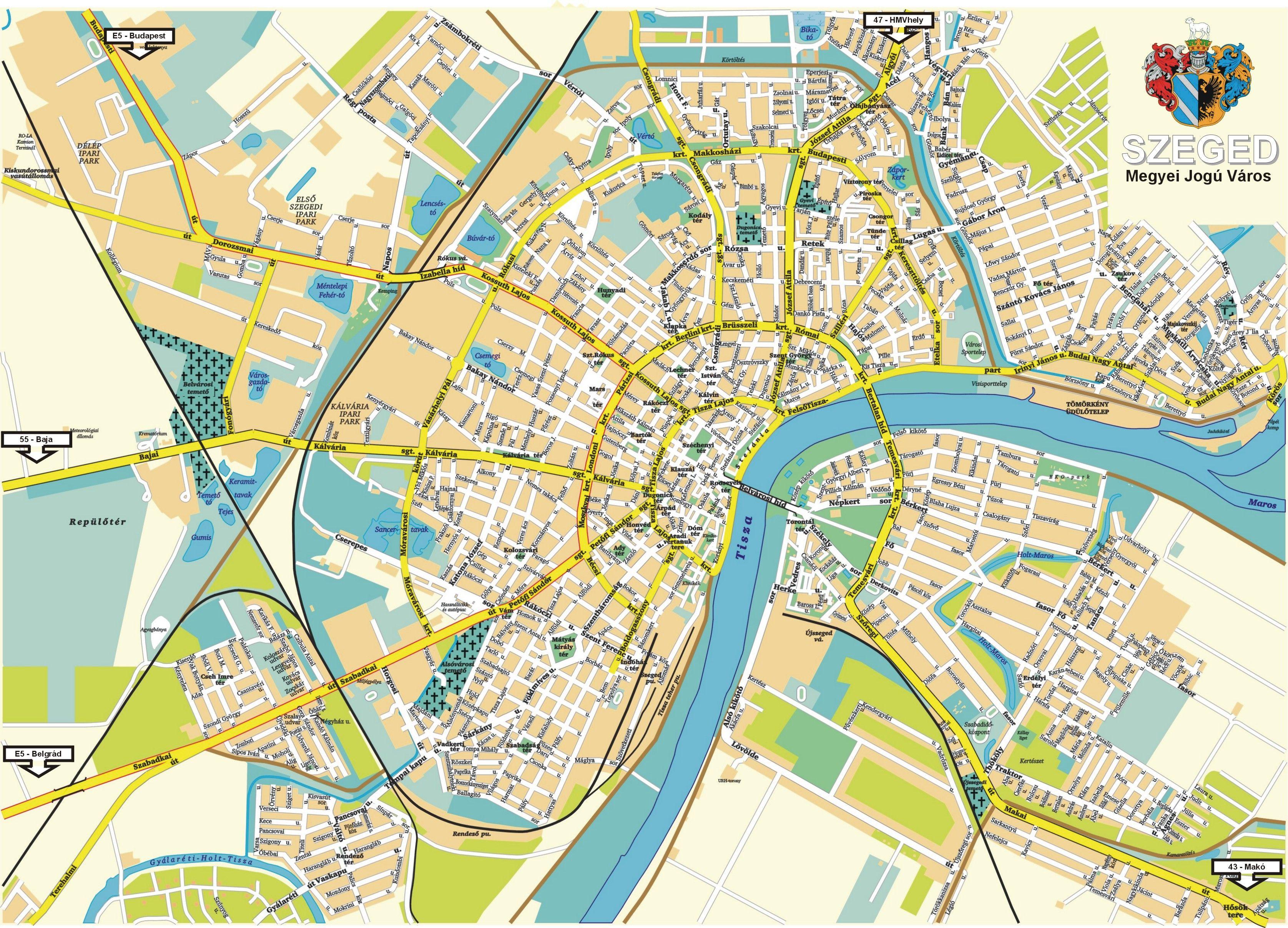 Szeged Map Szeged Hungary Mappery