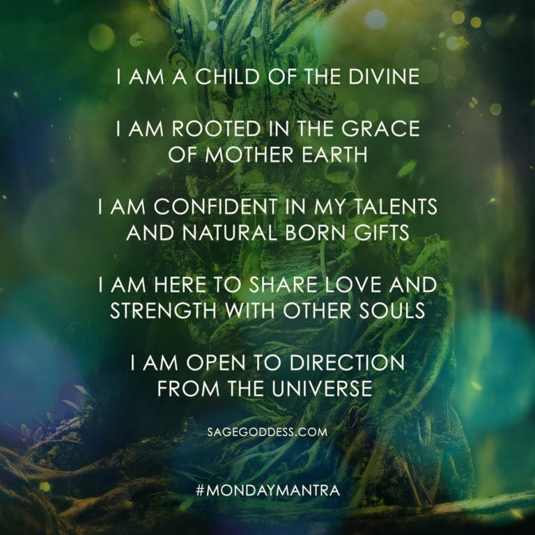 Sage Goddess Monday Mantra E-Cards