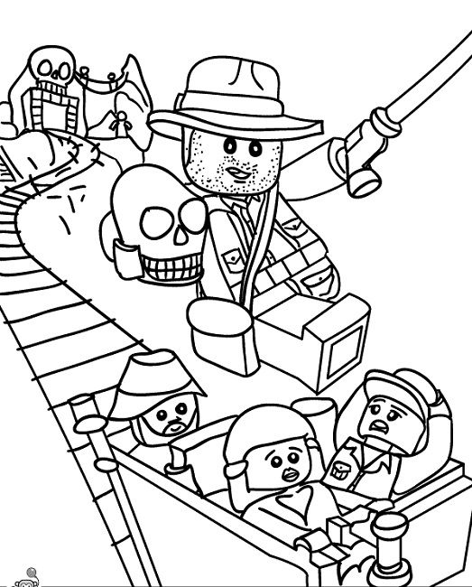 lego indiana jones coloring pages printable  88378cb3d542