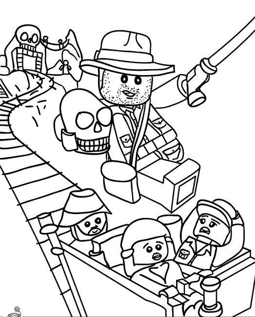 Lego Indiana Jones Coloring Pages Printable Maleboger Tegn Drenge