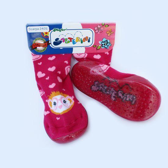 """Calza scarpa """"Salterino"""" con suola in gomma. Per giocare"""