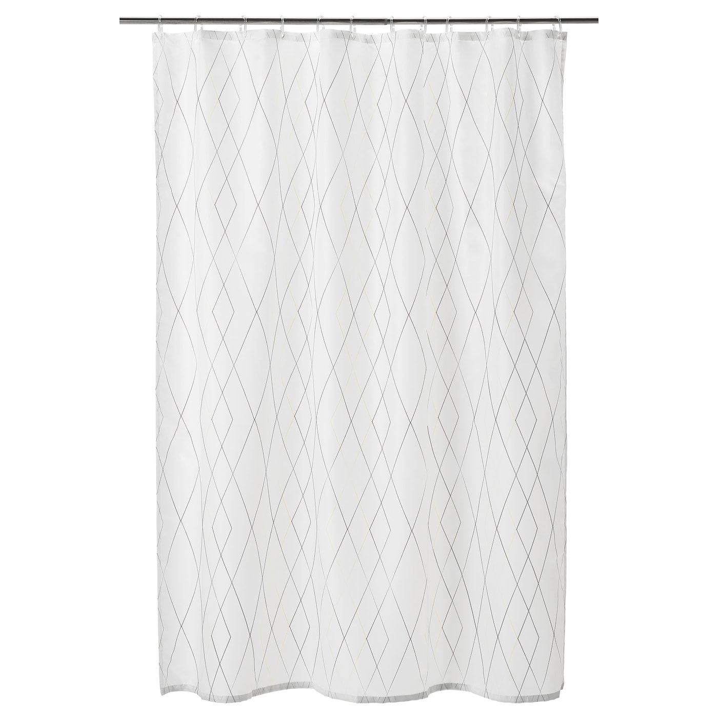 Bastsjon Shower Curtain White Yellow Lilac 71x71 In 2020