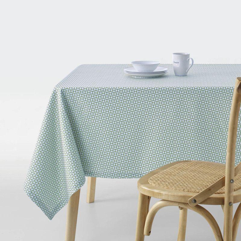 Nappe En Coton Enduit Imprime Triangles Ajoutez De La Couleur Et Une Touche Graphique Sur Votre Table Enduction Acrylique Pour U Deco Maison Nappe Decoration