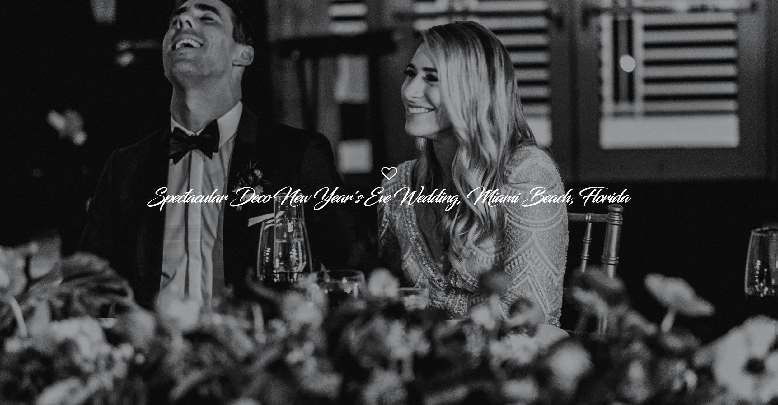 YSD Events website homepage black and white wedding image