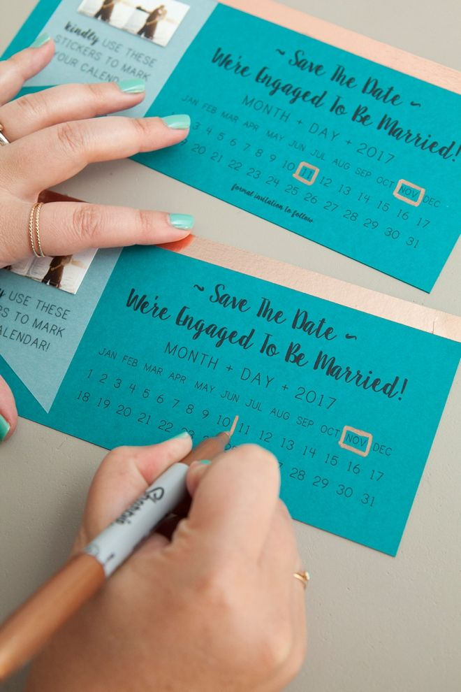 NEW, Free DIY Save The Dates With Calendar Stickers! Free
