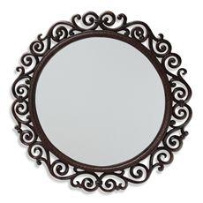 Round Mirror With Cast Iron Frame Decoracao Do Banheiro Decoracao Espelho