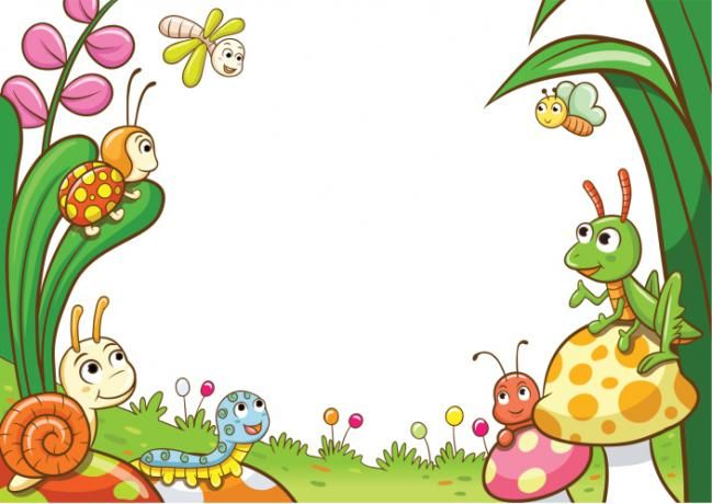 Marcos infantiles para portadas imagui s for Bordes jardin
