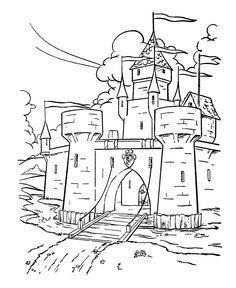 Pin Von Martina Jelinkova Auf Rytirsky Rok Schlosszeichnung Ausmalbilder Ritter Mittelalterliche Burg