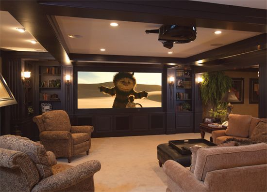 23 basement home theater design ideas for entertainment. Black Bedroom Furniture Sets. Home Design Ideas