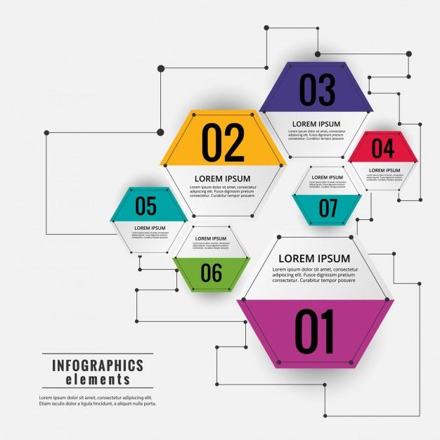 Colored hexagonal infographic diagram free vector work pinterest colored hexagonal infographic diagram free vector ccuart Choice Image