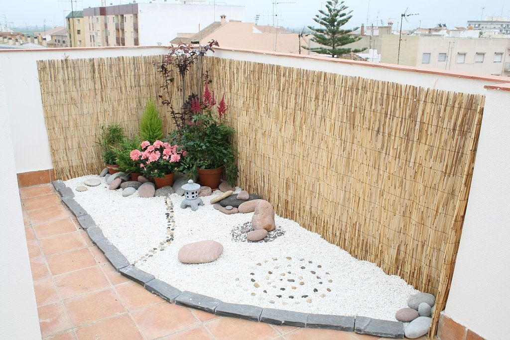Jardin zen para terrazas jardin zen pinterest minis - Jardines zen pequenos ...