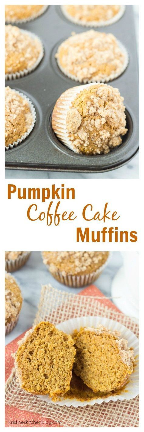 Healthier Pumpkin Coffee Cake Muffins so light, tender