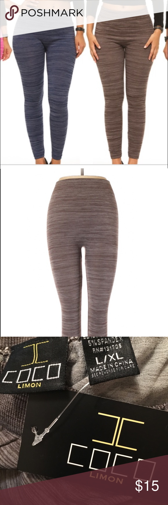 50ac843537 Coco Limon Women's L/XL grey leggings NWT Coco Limon Women's L/XL Space