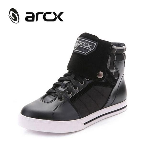 55550485189 ARCX Motorcycle Riding Leisure Shoes Genuine Cow Leather Street Moto Racing  Chopper Cruiser Touring Biker Motorbike Ankle Boots