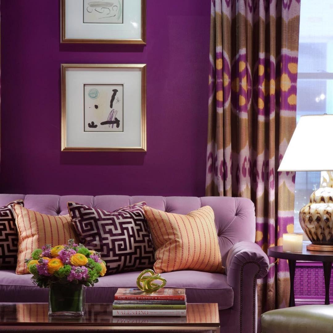 Amanda Nisbet Purple Living Room