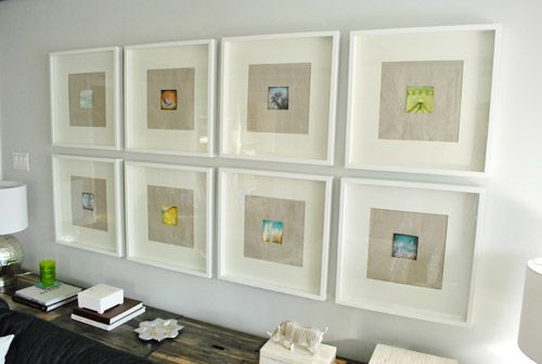 likes textured mat backgrounds clean white frames small pops of color uniform - White Square Picture Frames