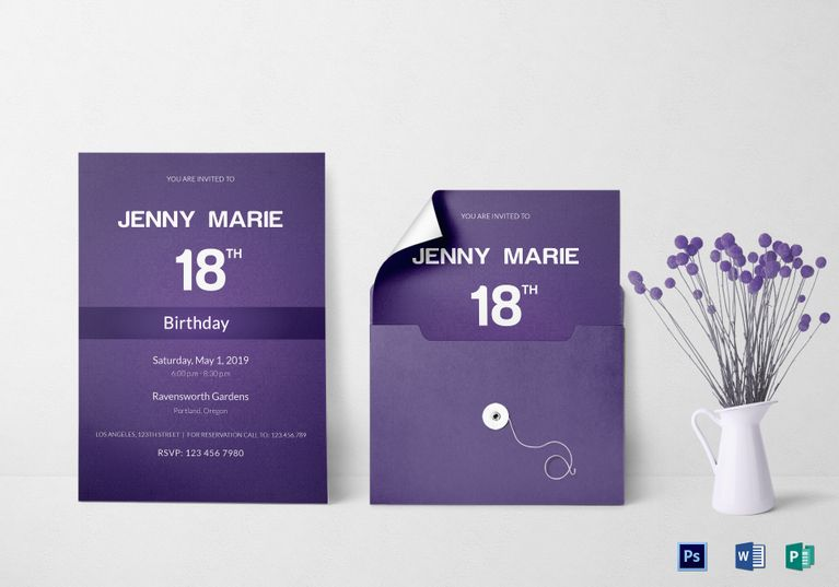 Debut Event Invitation Card Template Invitation Card Templates - invitation card format for conference