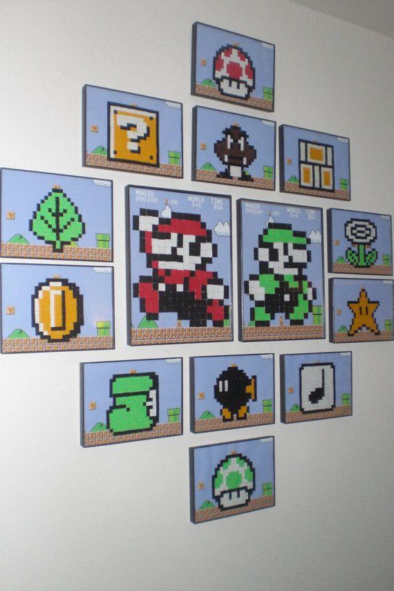 8Bit Mario Wall Art by LifeofaGeek on Etsy, $65.00