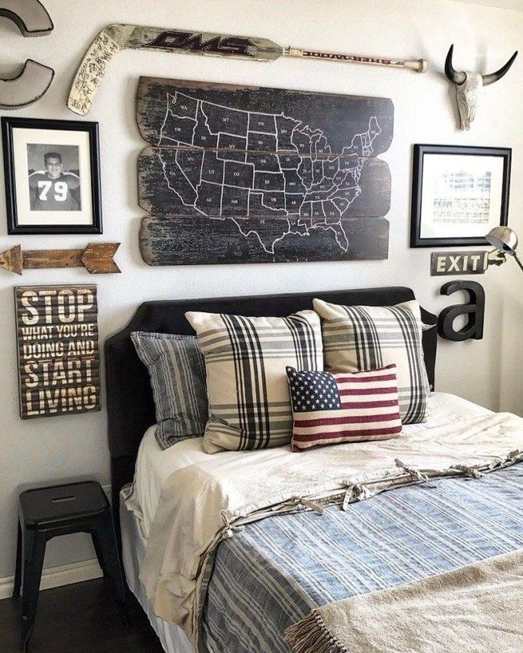 20 Cool And Fun Teens Bedroom Design Ideas Trenduhome Boys Bedroom Gallery Wall Rustic Boys Bedrooms Boys Room Decor Cool teen room ideas