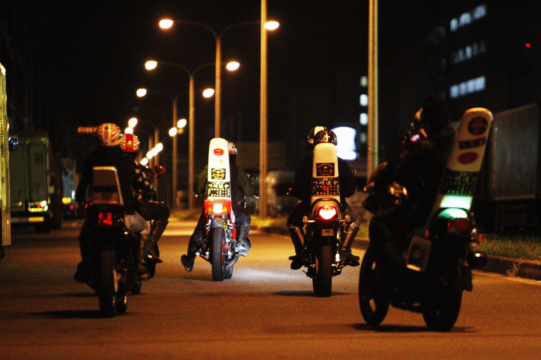 "THRTEEN JAPAN×川崎中部七和會 "" MIDNIGHT SHOOTING"" #thirteenjapan #gang #biker #black #japan #swag #crew #photo #shot #gold #street #girl"