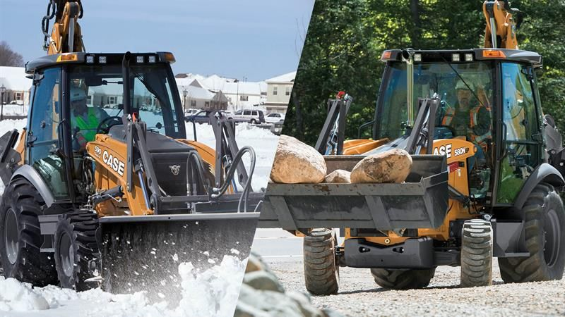Transitioning Snow Removal Equipment From Winter To Spring From Case Rock Dirt Blog Construction Snow Removal Equipment Construction Equipment Snow Removal