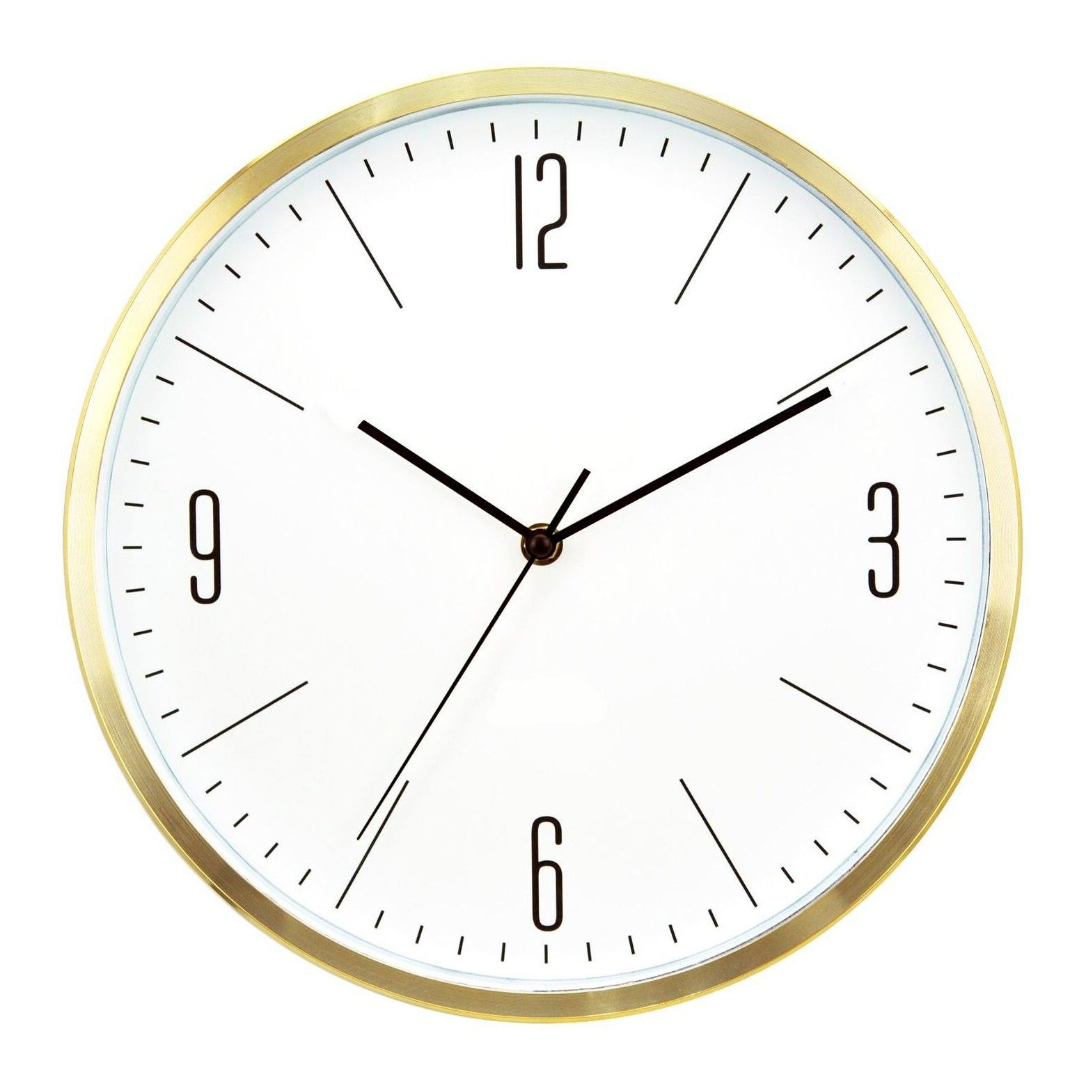 6 Round Wall Clock White Brass Project 62 Wall Clock Round Wall Clocks Wall Clock Brass
