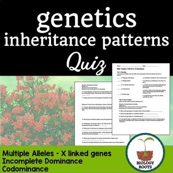 Genetics Quiz Complex Patterns Of Inheritance Non Mendelian