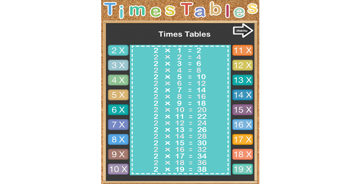 This app is to practice Times Tables supporting x9, x12 and x19 ...