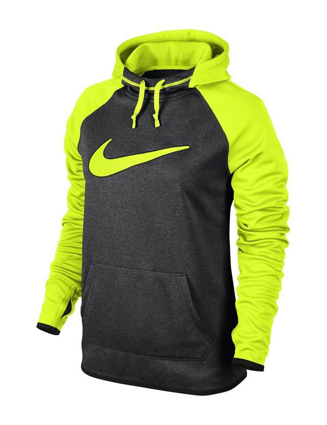 c3c07566b3bb Nike® Neon Yellow   Grey All Time Hoodie