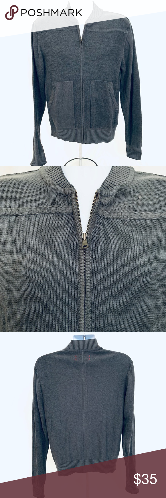 Cutter and Buck Zip Cardigan 100% Cotton Cardigan in shale. Full zip ff6e62e49