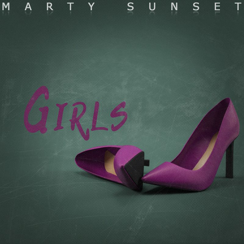 Cover for my track Girls available  for free on Bandcamp.