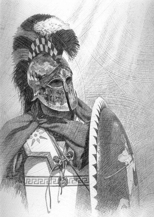Spartan warrior 5th century BC Attribution Steve Noon