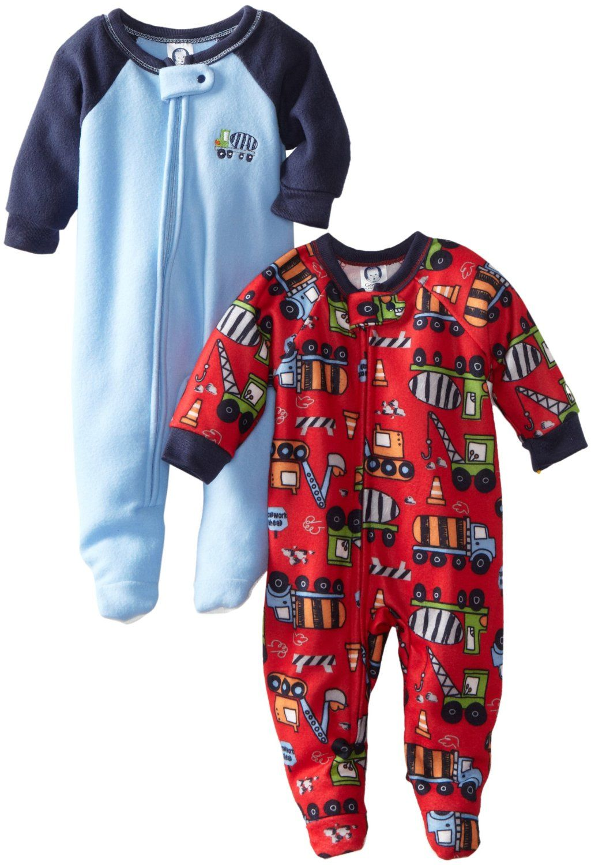 Amazon.com  Gerber Baby-boys Infant 2 Pack Trucker Special Sleeper Blanket   Clothing abe7c08e4b4