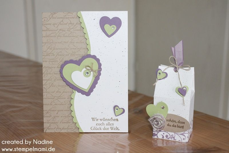 Hochzeitskarte Give Away Stampin Up Wedding Card Goodie Milchkarton