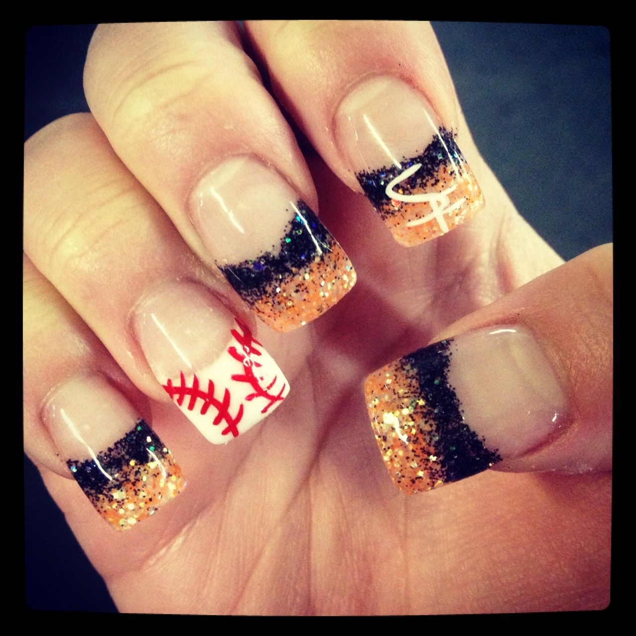 SF GIANTS NAILS | Nails | Pinterest | Sf giants nails, Makeup and ...