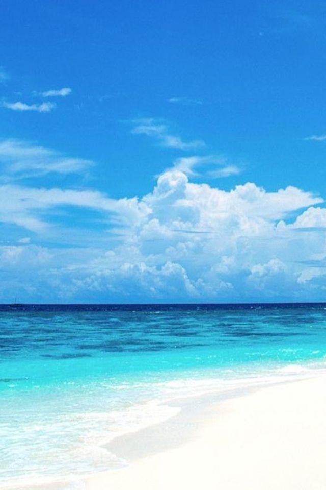 Nature Pure Blue Ocean Surface Cloudy Sky #iPhone #4s #wallpaper - new blueprint company saudi arabia