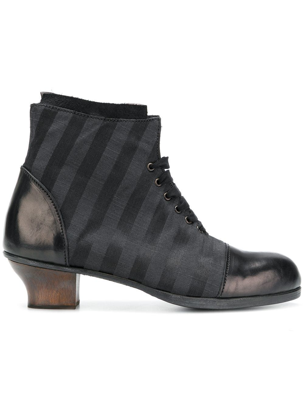 08cfe348ec4 Munoz Vrandecic striped lace-up ankle boots - Black in 2019 ...