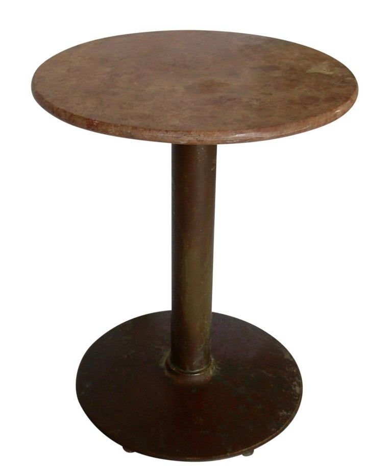 French Marble Top Cafe Bistro Table With Images Bistro Table