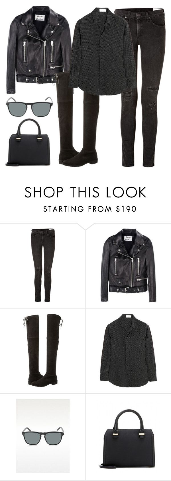 """""""Untitled #57"""" by findthefinerthings ❤ liked on Polyvore featuring rag & bone, Acne Studios, Stuart Weitzman, Yves Saint Laurent and Victoria Beckham"""