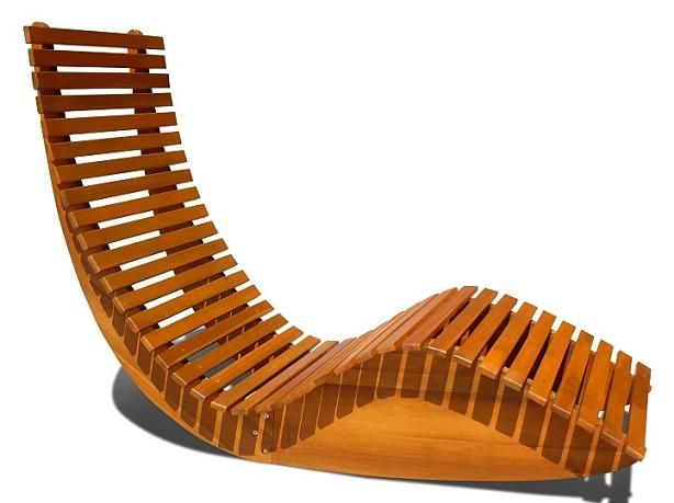 Admirable A Wood Rocking Lounger For Poolside Outdoor Rocking Forskolin Free Trial Chair Design Images Forskolin Free Trialorg