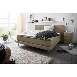 Photo of andas box spring bed premium stitching with button stitching including topper andasandas